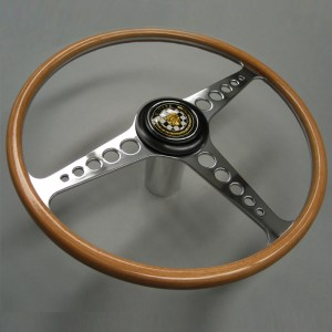 C15168 Jaguar XKE E Type Three Quarter Wrapped Beech Steering Wheel 01