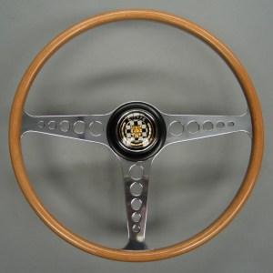 C15168 Jaguar XKE E Type Three Quarter Wrapped Beech Steering Wheel 02