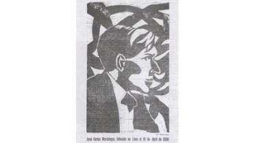 Figura 11. José Carlos Mariátegui, de Diego Kunurana (1930). Boletín Titikaka, t. III, n. XXXIV.