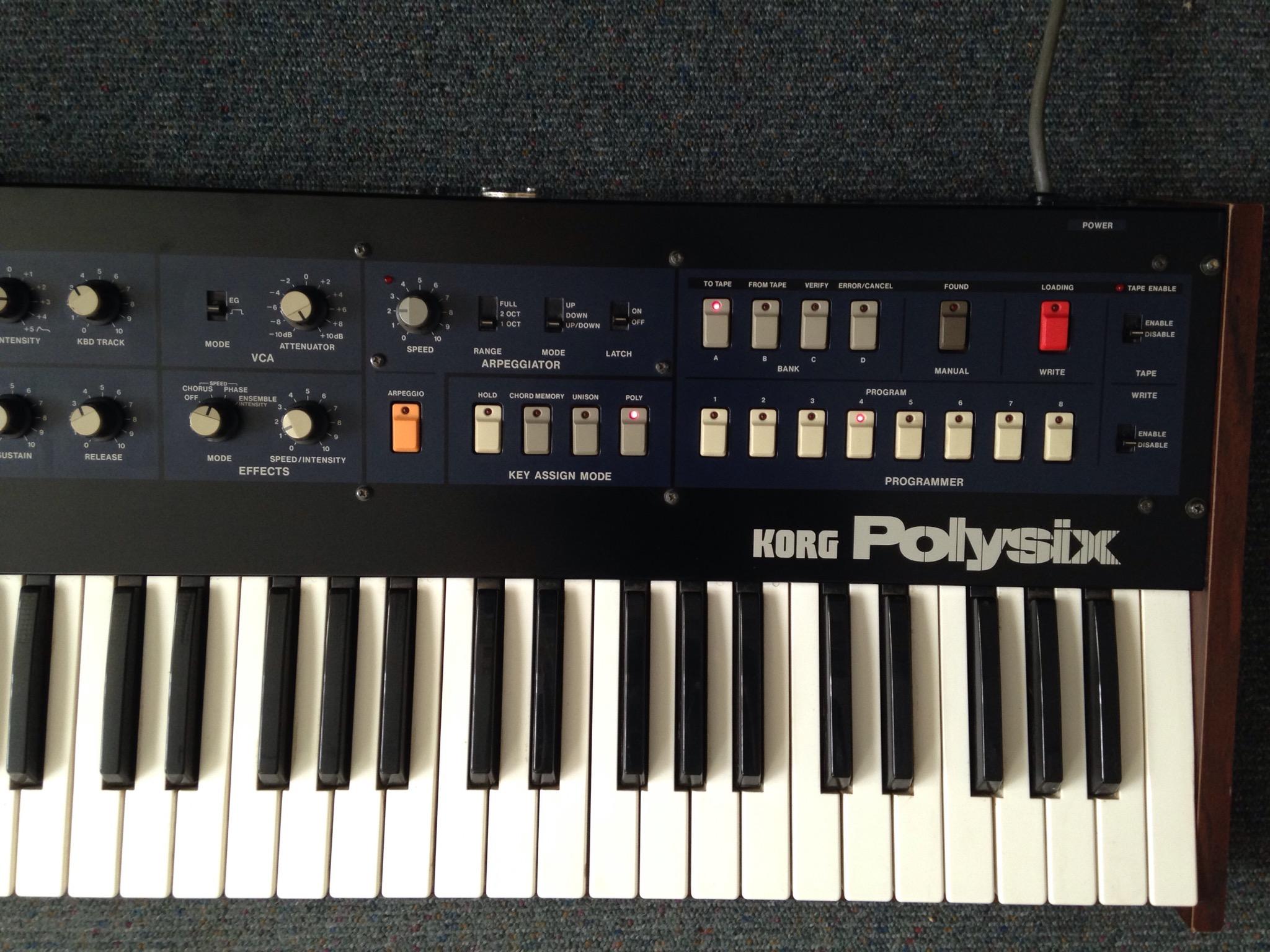 Korg Polysix repair+mod+MIDI | Jacob Korn