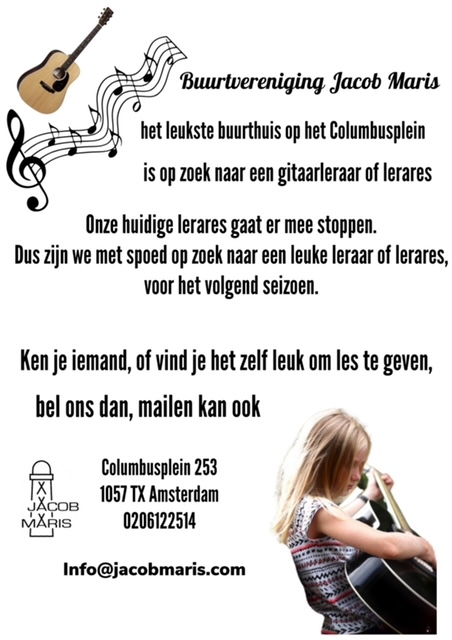 gitaarleraar gezocht