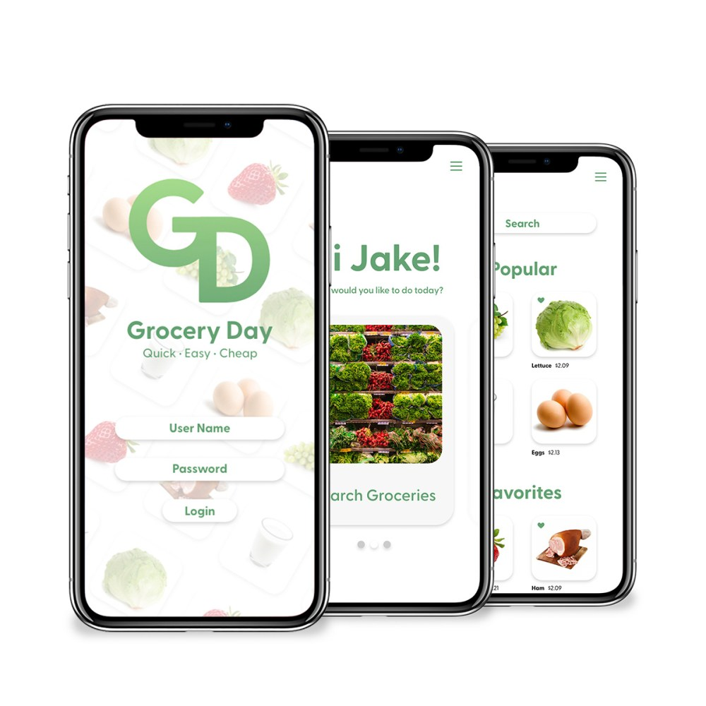 Grocery Day iPhoneX-Mockup