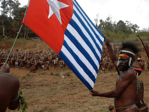 A daring flag raising ceremony in the central highlands of West Papua