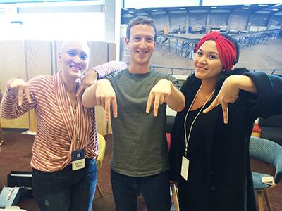 Abby Asistio Meets Facebook's Mark Zuckerberg