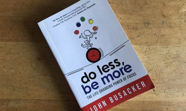 BOOK REVIEW: Do Less, Be More