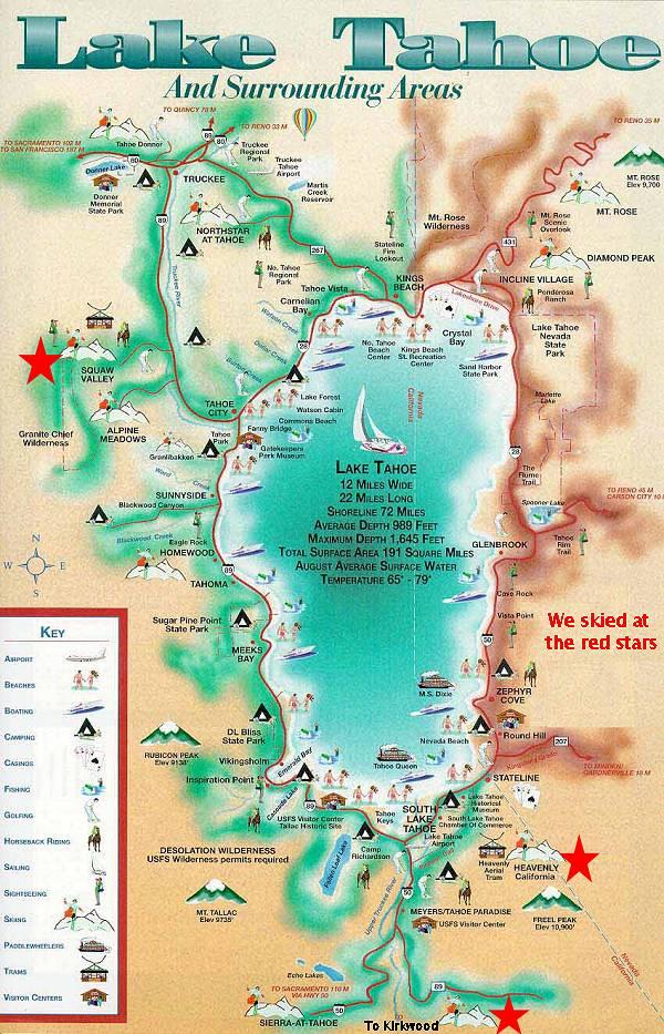 North Lake Tahoe Ski Map - North lake tahoe map