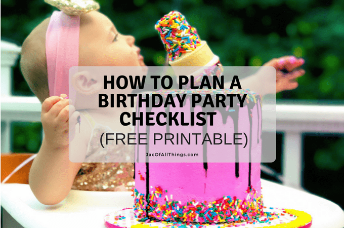 Free Printable Birthday List ~ How to plan a birthday party checklist free printable party
