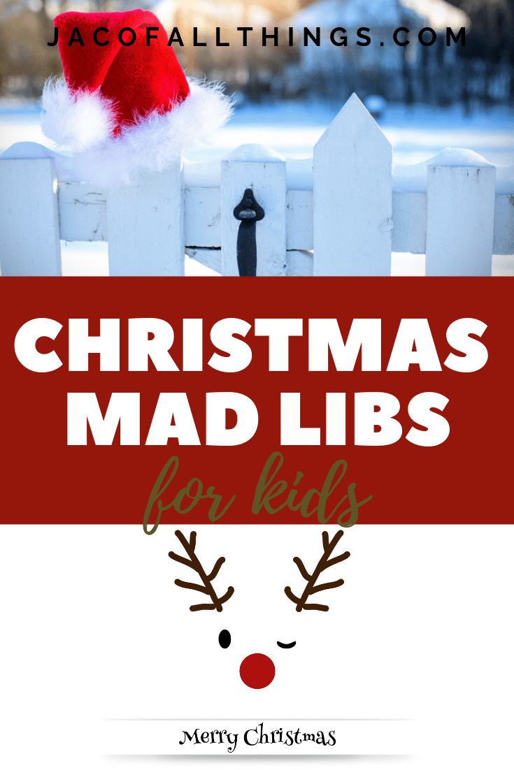 Download your free printable Christmas Mad Libs now! They are so fun for kids to enjoy and will have the whole family laughing. The perfect activity! Download your worksheet today!