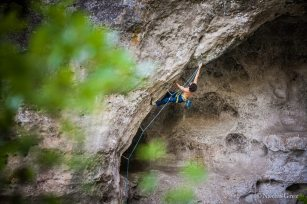 Climbing in Boffi, France - Copyright: Nacho Grez