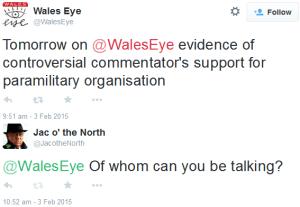 Wales Eye paramilitary comb