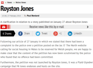 Wales Online apology 1