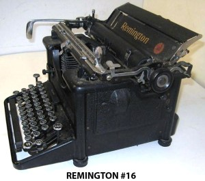 Reminton No 16 typewriter