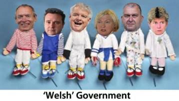 Puppet show, caption