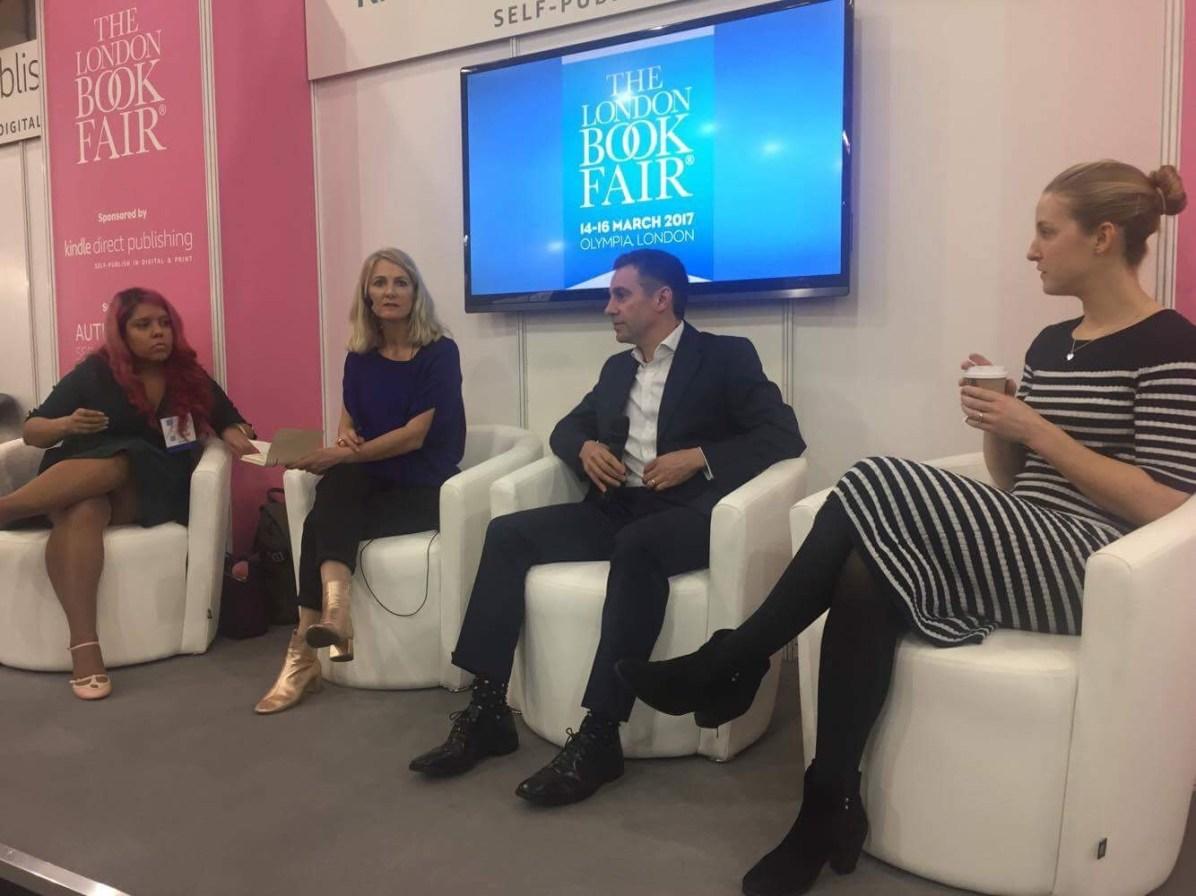Jacq Burns, chair of panel, London Book Fair