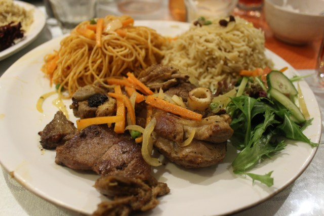 Safari Federation plate Somalian cuisine