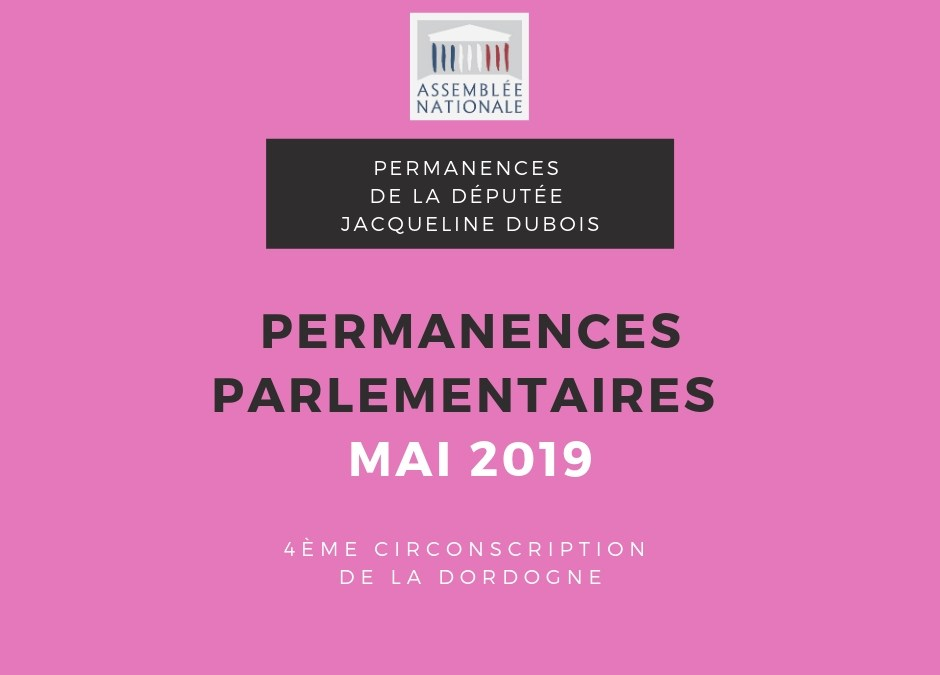 Permanences parlementaires MAI 2019
