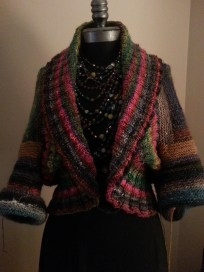 Log Cabin Cardigan
