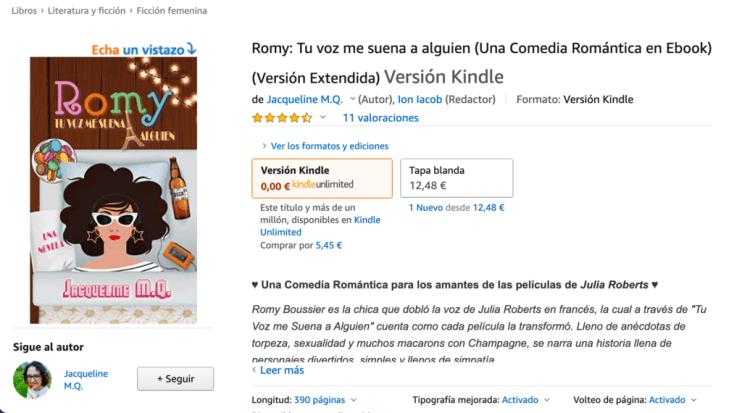 Romy: Tu voz me suena a alguien (Una Comedia Romántica en Ebook) (Versión Extendida)