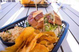 Crunchy Chicken Sandwich at lunch