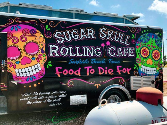 Sugar Skull Rolling Cafe in Surfside Beach