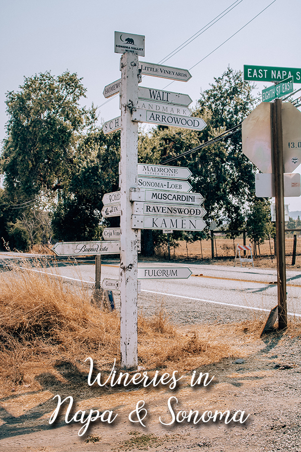 Winery Sign in Sonoma