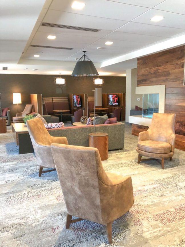 Denver airport hotel lobby