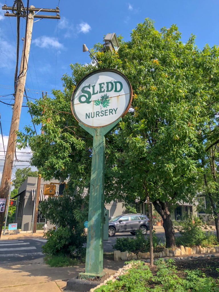The most instagramable nurseries in Austin, Texas. Stop by Sledd Landscape Nursery and read a book!
