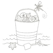 Seaside Fun Free Embroidery Pattern- Jacquelynne Steves