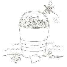 Seaside Fun Free Embroidery Pattern- Jacquelynne Steves