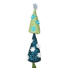 wonky whimsical christmas tree ornament pin cushion Jacquelynne Steves