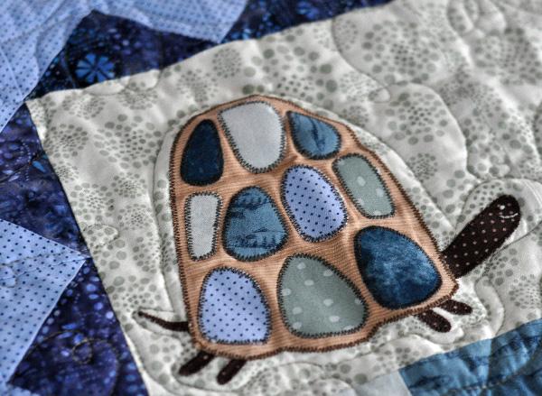 Turtle quilt, Boys Quilt pattern, Jacquelynne Steves, Davids Playmates