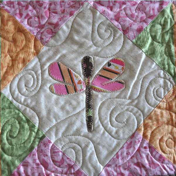 Dragonfly Quilt pattern applique Jacquelynne Steves