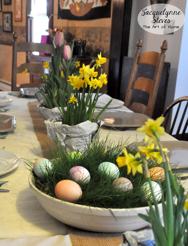 Easter Egg in Grass Centerpiece- Jacquelynne Steves