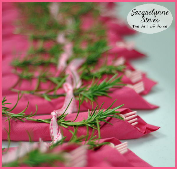 Napkin Ring Idea Bridal Shower- Jacquelynne Steves