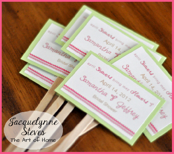 Easy bridal shower ideas simple bridal shower favor jacquelynne steves altavistaventures Gallery