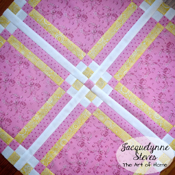 Pink Yellow Mini Quilt- Jacquelynne Steves
