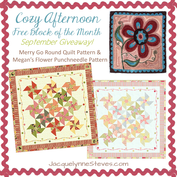 Giveaway for September- Cozy Afternoon Free BOM