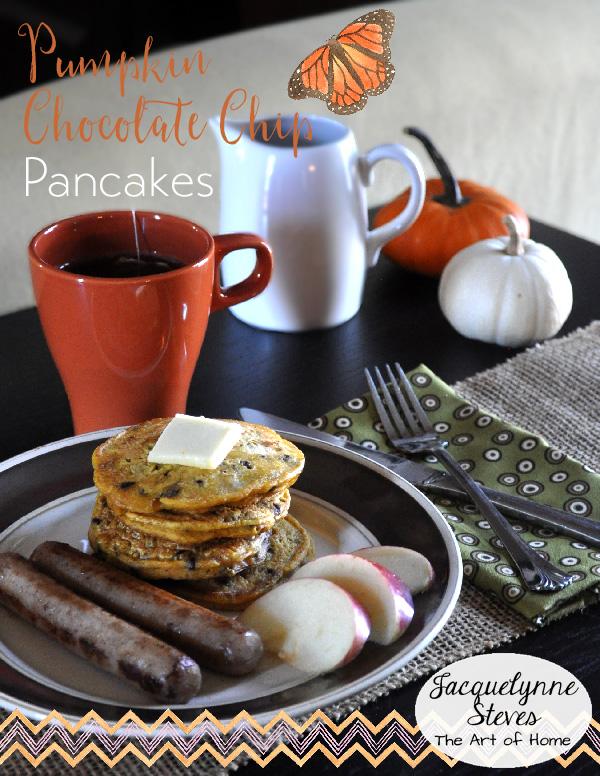 Pumpkin Chocolate Chip Pancakes- Jacquelynne Steves