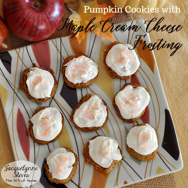 Pumpkin Cookies With Maple Cream Cheese Frosting Recipe- Jacquelynne Steves
