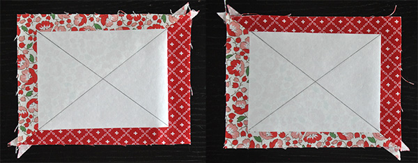 Easy HRT Tutorial- Make perfect half rectangle units, no special ruler required! | JacquelynneSteves.com #quilt #quilting