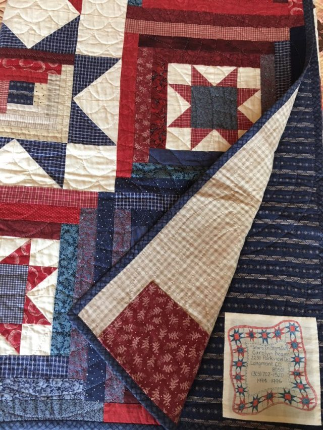 how to make a quilt label using freezer paper