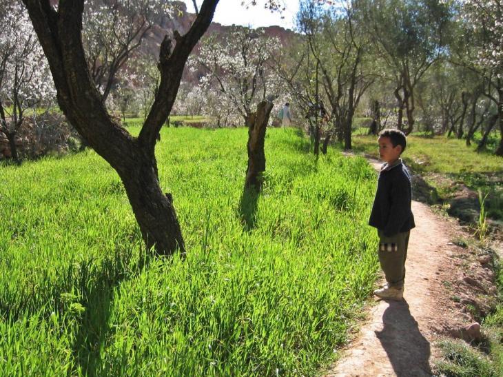 Imgoun, village aux 7 sources et aux terres fertiles, avant le changement climatique