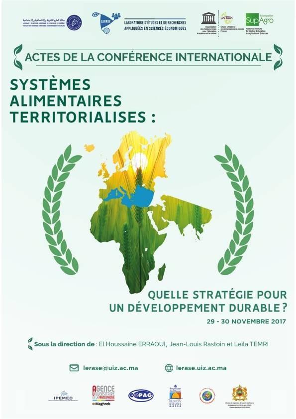 Systèmes alimentaires territorialisés - Actes du colloque d'Agadir