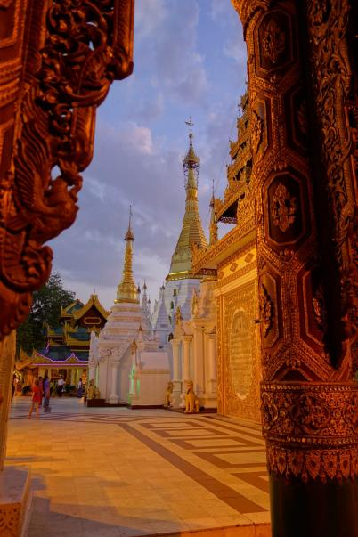 Shwedagon Paya, view of some details