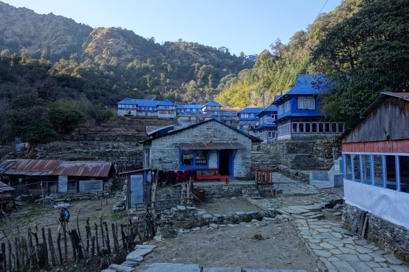 Finally arrived to Ghorepani (south part here)