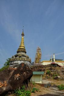 The Nwa-la-bo pagoda under renovation