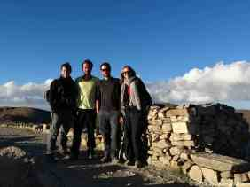 Our group, early morning walking toward Yumani in the south of the island