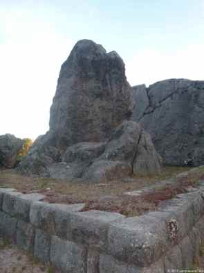 Q'enqo ritual rock which has been partially damaged by the spanish in the intent to stop the Inca belief.