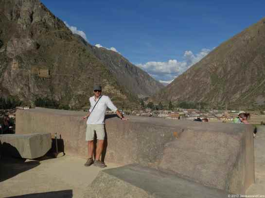 Another massive block of stone at Ollantaytambo site
