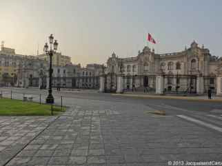 The government palace of Peru located on plaza del mayor